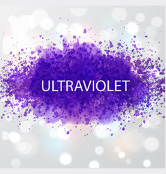 Abstract ultraviolet purple grunge splashes color vector