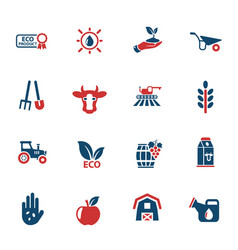 Agricultural icon set vector