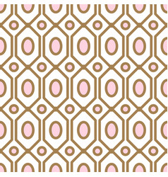 art deco geometric pattern with net gem ashapes in vector image