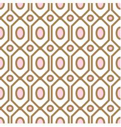 Art deco geometric pattern with net gem ashapes vector