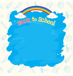 Back to school banner background with copy space vector