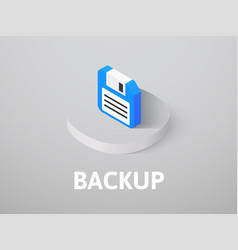 Backup isometric icon isolated on color vector