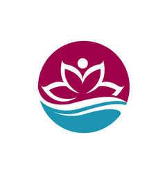 Beauty lotus flowers vector