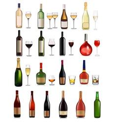 big set different drinks vector image