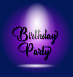 birthday party poser design isolated blue vector image