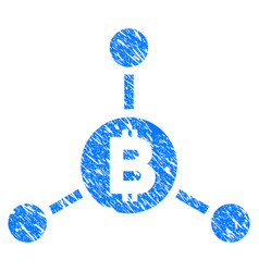 bitcoin links grunge icon vector image