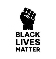 black lives matter - anti-racism motivation vector image