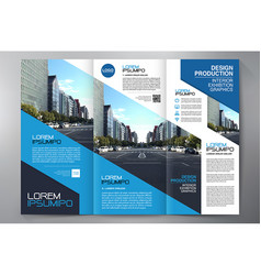 Brochure 3 fold flyer design a4 template vector