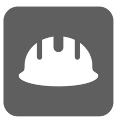 Builder Hardhat Flat Squared Icon vector