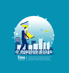 business time management concept business vector image