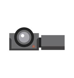 Camera cinema flat line icon vector