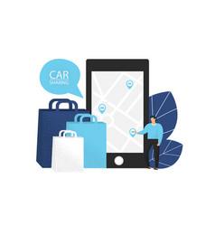 car sharing vector image