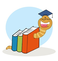 Cartoon bookworm vector