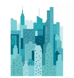 Cityscape geometric vector