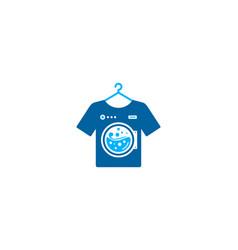 cloth laundry logo icon design vector image