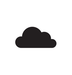 Cloud - black icon on white background vector
