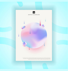 creative template poster design abstract fluid vector image