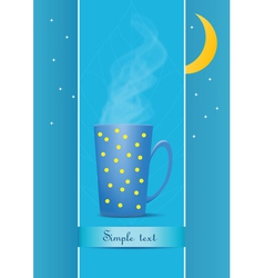 cup of tea evening vector image