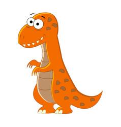 Cute cartoon t-rex of vector