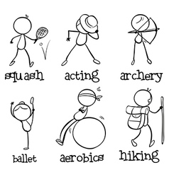 Different activities vector image