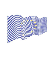 european union flag on white background wa vector image