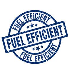 fuel efficient blue round grunge stamp vector image