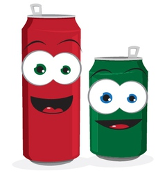 Funny Beer or Soda Cans vector image
