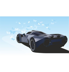 futuristic sports car vector image