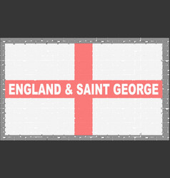 grey wall with flag saint george vector image