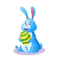 happy bunny cute smiling cartoon easter rabbit vector image