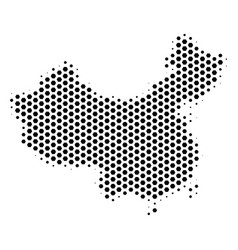 Hex-tile china map vector