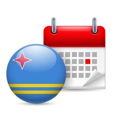 Icon of National Day in Aruba vector