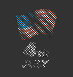 Independence day halftone banner vector