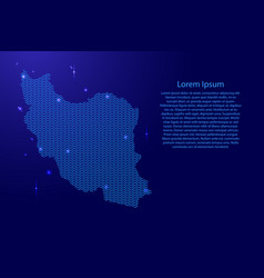 iran map country abstract silhouette from wavy vector image
