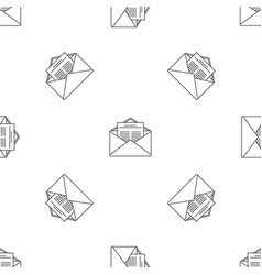 mail pattern seamless vector image