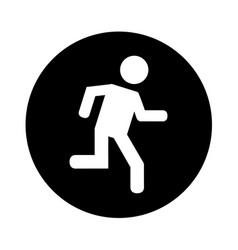 Man running silhouette emblem icon vector
