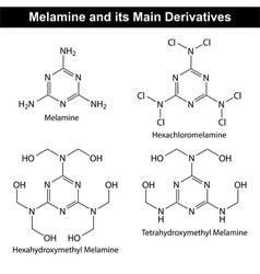 Melamine structure vector
