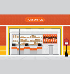 modern exterior and interior of post office vector image