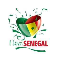 national flag senegal in shape a vector image