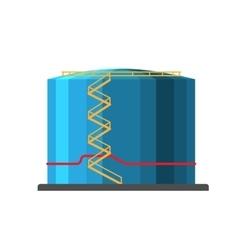 Oil barrel capacity tank vector