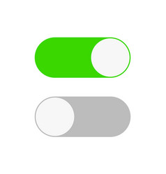 On and off switch toggle simple flat icon design vector