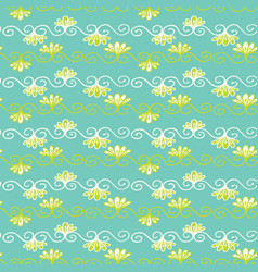 pretty flower damask pattern seamless repeating vector image