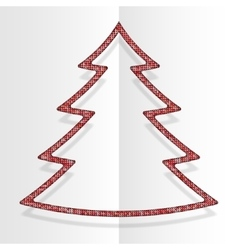 Red Sequins Christmas Tree Winter New Year vector