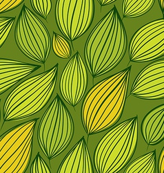 Seamless floral pattern green leaves seamless vector image vector image