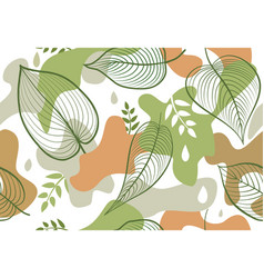 seamless pattern with organic shape blots in vector image