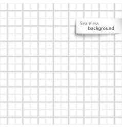 Seamless white sqare tiles texture vector image