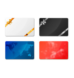 set bright different gift cards on white vector image