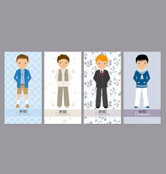 Set communion cards vector