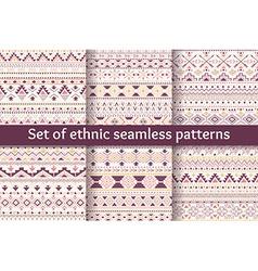 set six ethnic seamless patterns vector image
