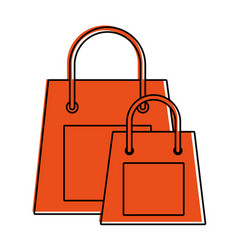 shopping bags icon image vector image
